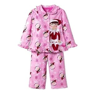 Elf on the Shelf Girl/'s 2pc Pajamas Target XS XSMALL Pink Holiday Xmas